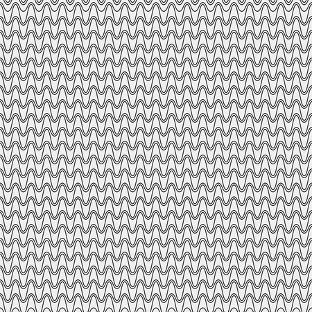 twisty: Seamless simple monochrome minimalistic pattern. Modern stylish texture. Wavy lines, simple
