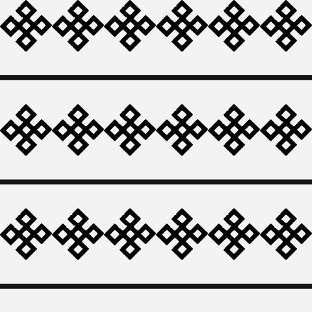 ukrainian: Monochrome ethnic pattern. Slav, scandinavian, ukrainian, style.