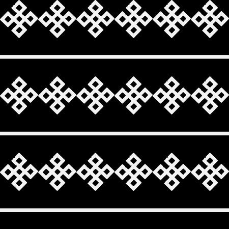 ukraine folk: Monochrome ethnic pattern. Slav, scandinavian, ukrainian, style.