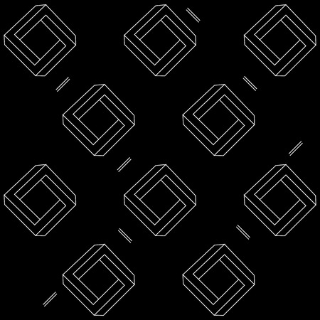 trickery: Pattern geometric seamless simple monochrome minimalistic pattern of impossible shapes, rectangles, triangles
