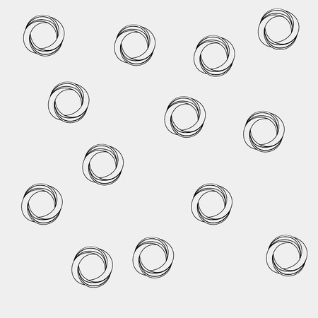 trickery: Pattern geometric seamless simple monochrome minimalistic pattern of impossible shapes, rounds.