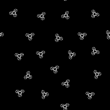 trickery: Pattern geometric seamless simple monochrome minimalistic pattern of impossible shapes, rectangles Illustration