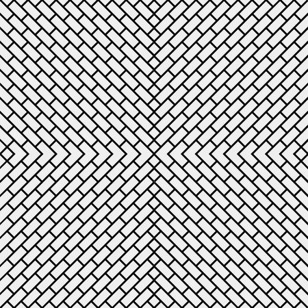 paredes de ladrillos: Geométrica simple negro y el patrón blanco minimalista, ladrillo diagonal. Se puede utilizar como fondo de pantalla, fondo o la textura.