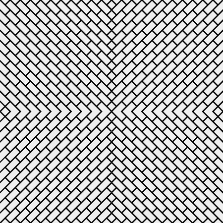 brickwork: Geometric simple black and white minimalistic pattern, diagonal brick. Can be used as wallpaper, background or texture. Illustration
