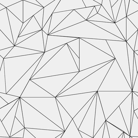 기하학적 간단한 검은 색과 흰색 최소한의 패턴, 삼각형 또는 스테인드 글라스 창입니다. 벽지, 배경 또는 질감으로 사용할 수 있습니다.