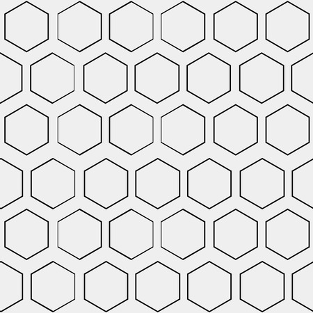 netting: Abstract minimalistic black and white pattern hexagon, black and white, monochrome