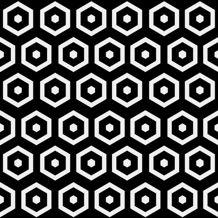 gauze: Abstract minimalistic black and white pattern hexagon, black and white, monochrome