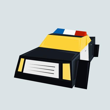 interceptor: Police car vector illustration isolated on white background.