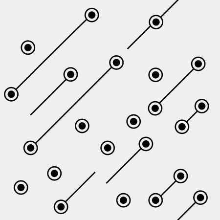 spermatozoon: Black and white geometric minimal pattern microchip, rounds or dots with diagonal lines.