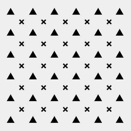 blanco y negro triángulo de fondo patrón, retro vendimia mínima de diseño de vectores, geométrica.