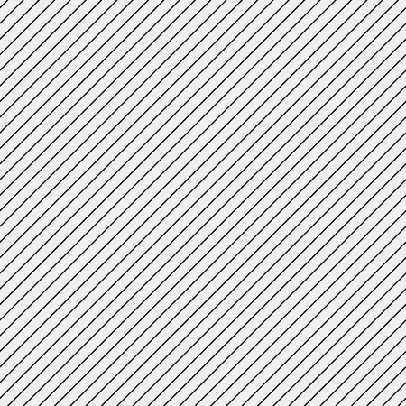 Vector seamless pattern. Modern stylish texture. Repeating geometric tiles with diagonal lines in monochrome Ilustração