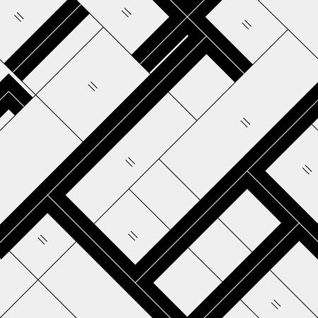 diagonal lines: Seamless pattern diagonal polygonal rectangular lines, black and white. Illustration