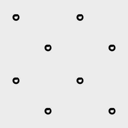 rounds: Minimal monochrome handwritten pattern dots, rounds. Black and white. Illustration