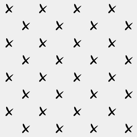 rood: Minimal monochrome hand drawn pattern cross.Black and white.