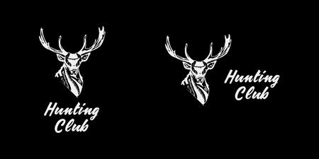 Black and white monochrome emblem, symbol, logotype, sign, badge, sticker, poster of a bear, dog, wolf. Identity usage