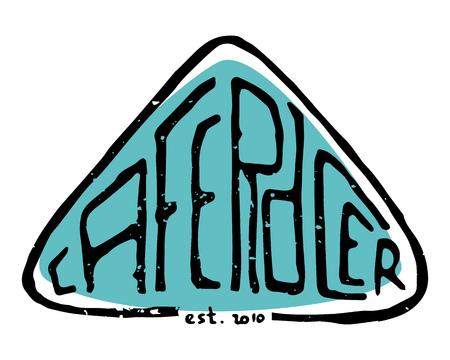 Cafe Racer text letters. Lettering, emblem, sign