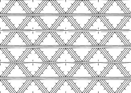 Black and white minimal geometric pattern Illustration