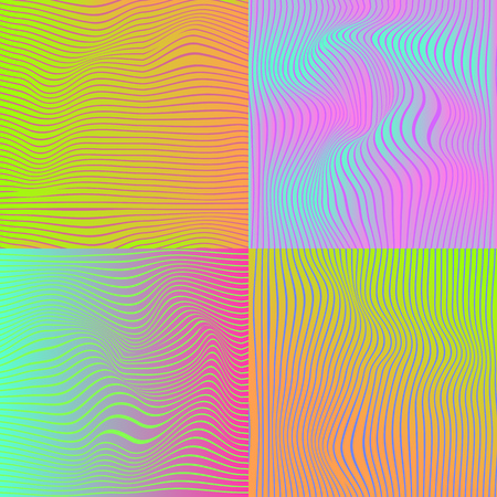 Abstract pattern with colorful, hologram elements