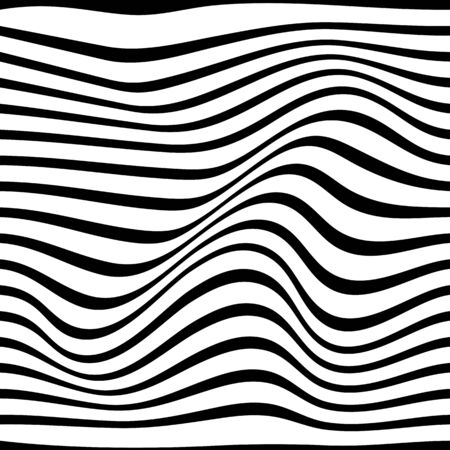 Black and white pattern wavy zebra lines Banque d'images - 129814722