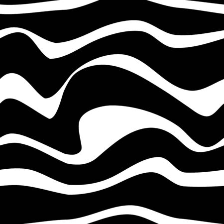 Black and white pattern wavy zebra lines Banque d'images - 129814730