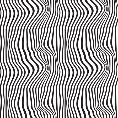 Black and white pattern wavy zebra lines Banque d'images - 129814733