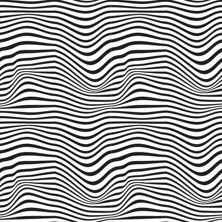 Black and white pattern wavy zebra lines Banque d'images - 129814739