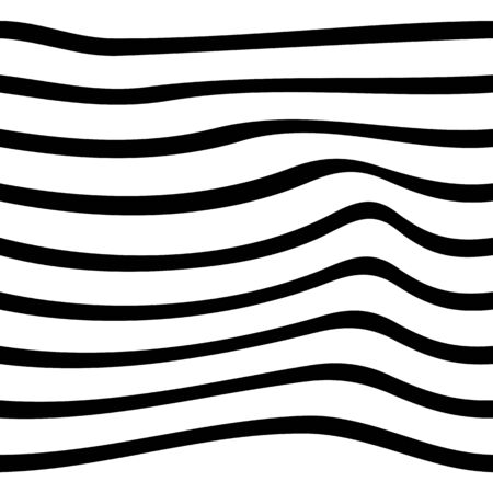 Black and white pattern wavy zebra lines Banque d'images - 129814833
