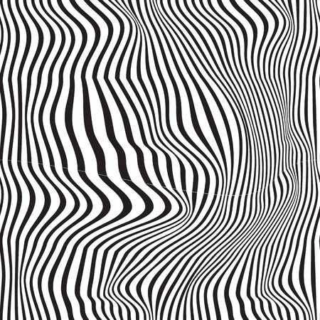 Black and white pattern wavy zebra lines Banque d'images - 129814834