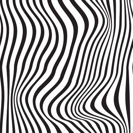 Black and white pattern wavy zebra lines Banque d'images - 129814836