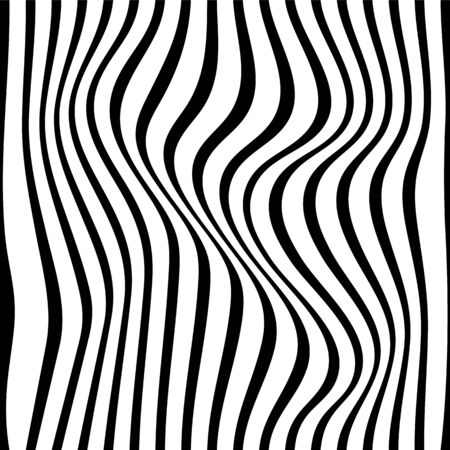 Black and white pattern wavy zebra lines Banque d'images - 129814838