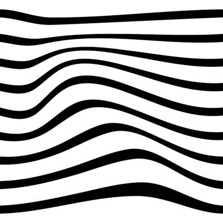 Black and white pattern wavy zebra lines