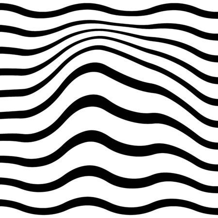 Black and white pattern wavy zebra lines Banque d'images - 129814844