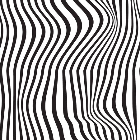 Black and white pattern wavy zebra lines Banque d'images - 129814851
