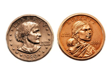 minted: American silver dollars
