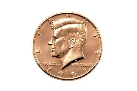 minted: Half dollar - heads Stock Photo