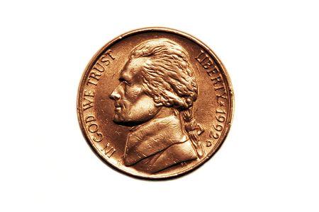 minted: Nickel  Stock Photo