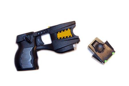 criminal defense: Taser Stock Photo