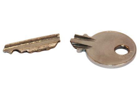 damaged: Broken key Stock Photo