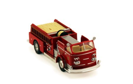A toy fire truck
