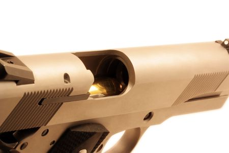 45 ammo: Chambered .45 bullet
