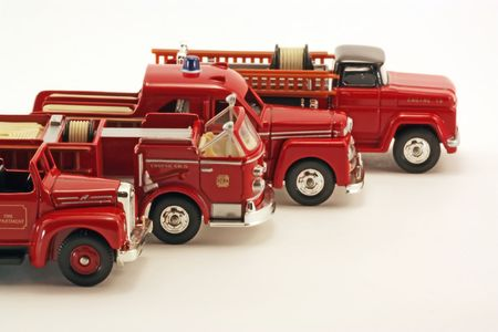 squad: Firetruck Squad Stock Photo