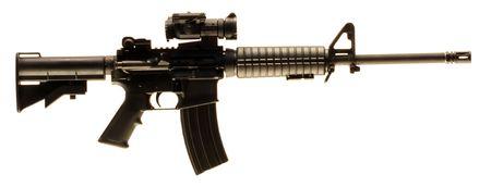 semi automatic: AR-15 Rifle