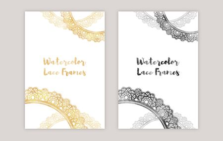 watercolor lace frames