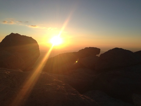 mount evans: Sunrise on top of mount Evans 14k feet Stock Photo