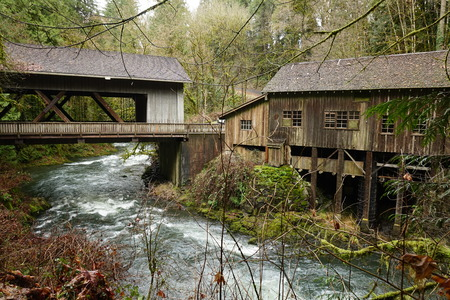 Beautiful picture of historic Grist Mill in Southern Washington