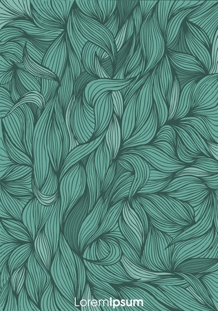 seamless abstract hand-drawn, waves background