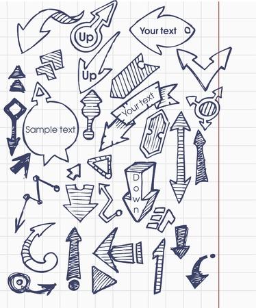 Set - Pfeile Vektorgrafik