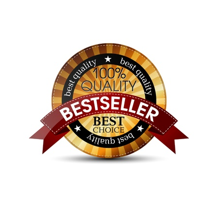 award  - best choice red, gold label with ribbons