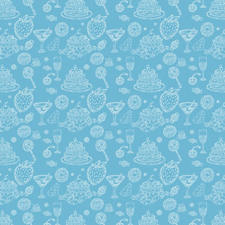 Seamless pattern in food style wallpaper
