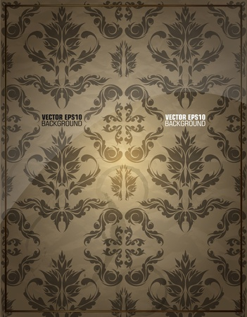 Seamless wallpaper pattern vintage Illustration